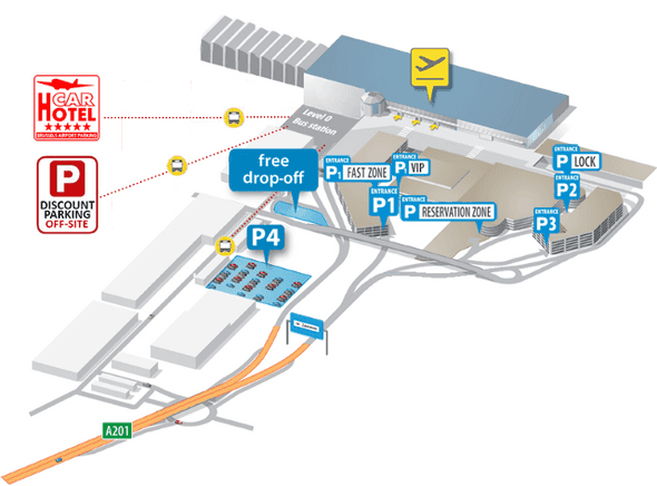 Zaventem airport map