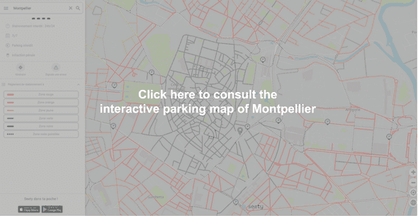 Interactive parking map of Montpellier